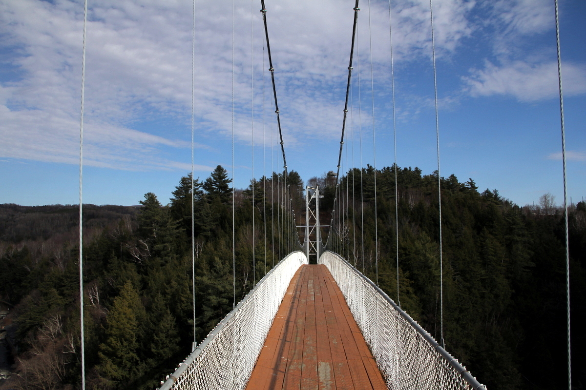 Suspension Bridge Over The Coaticook Gorge