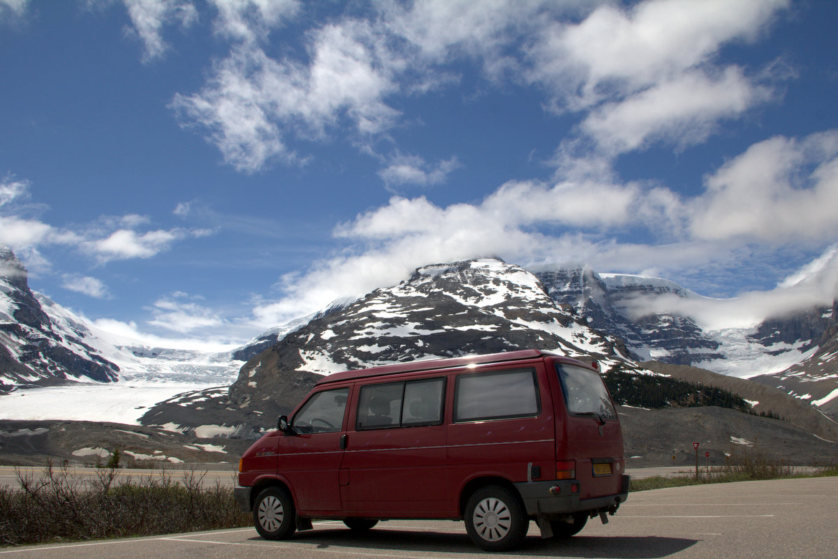 The Van At The Columbia Icefields