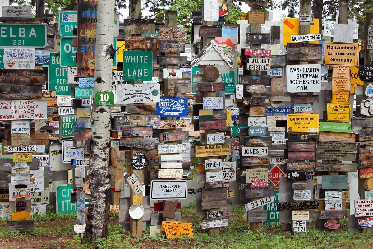 Signpost Forest, Watson Lake