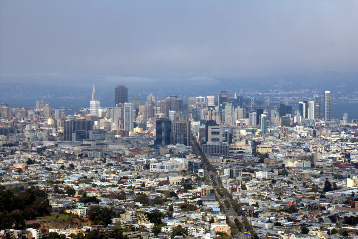 View Over San Francisco From Twin Peaks