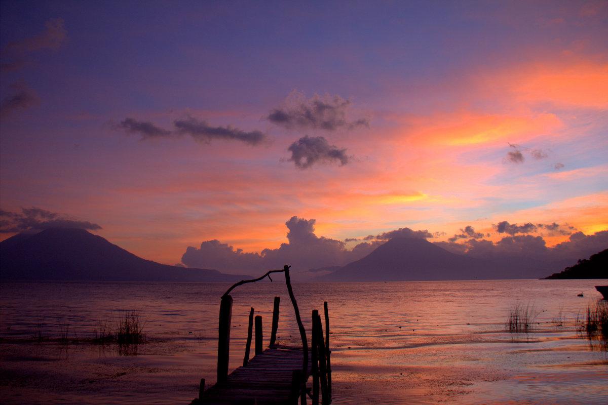 View Over Lago Atitlan From Panajachel Campsite