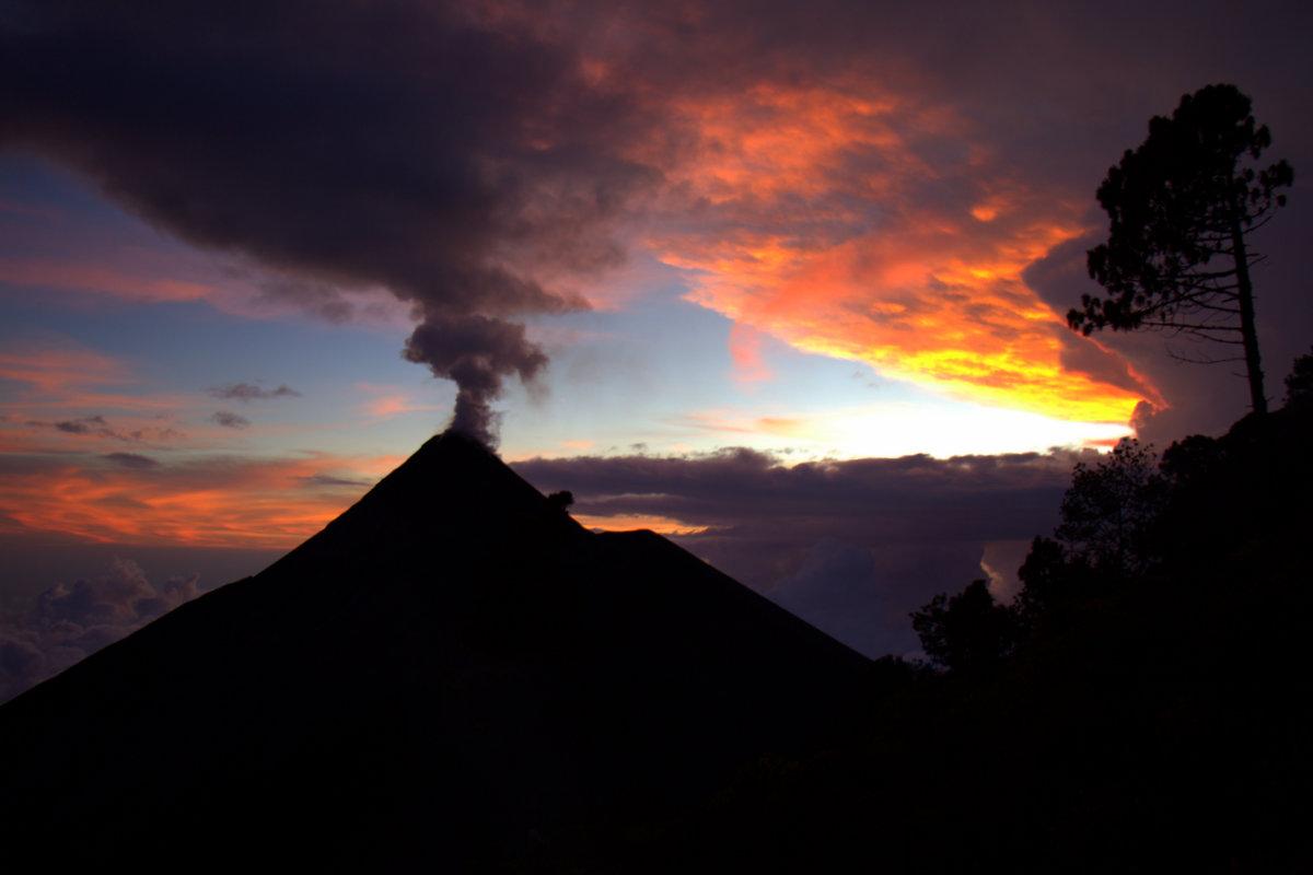 Acatenango Campsite Sunset