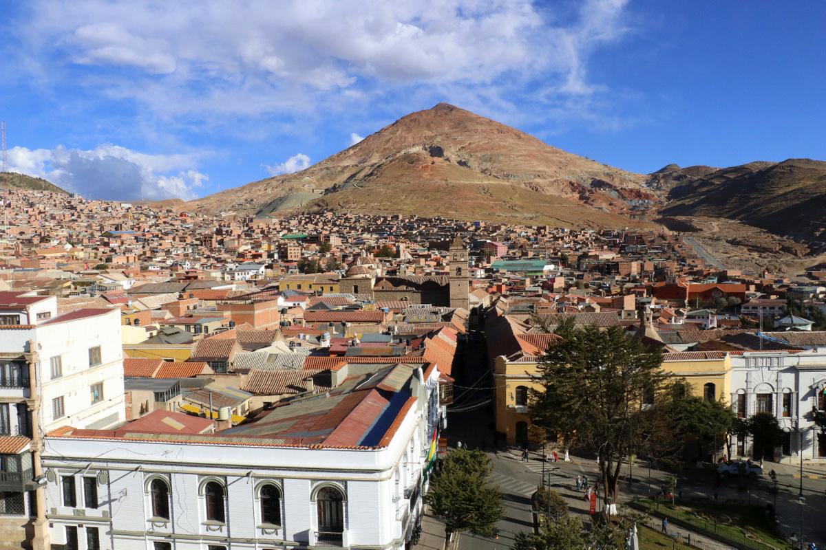 View Over Potosi With Cerro Rico